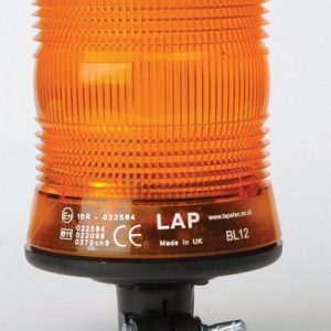 LAP 10-30v DIN Pole Mount LED Amber Safety Beacon - LCB030
