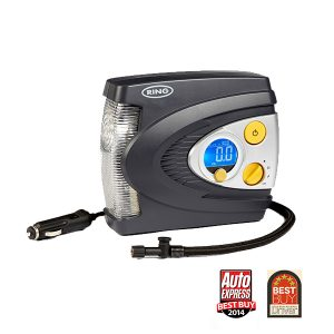 Ring Digital Automatic Air Compressor with LED Light and Case - RAC635